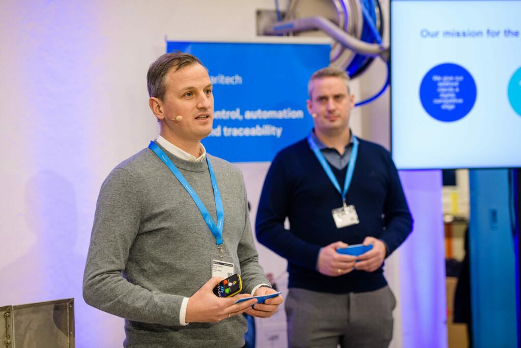 Product and technology Director Bjørnar Kvalsnes and IoT Director Andre Lillebakk, Maritech